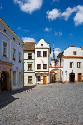 On Purkrabská Street in the Old Town of lomouc, Moravia, Czechia