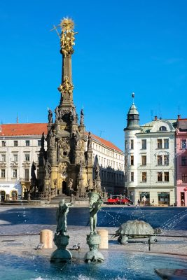Arion's Fountain and the Holy Trinity Coloumn, Olomouc, Moravia, Czechia