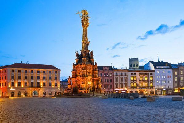 The Holy Trinity Column and Horní Náměstí, Olomouc, Moravia, Czechia