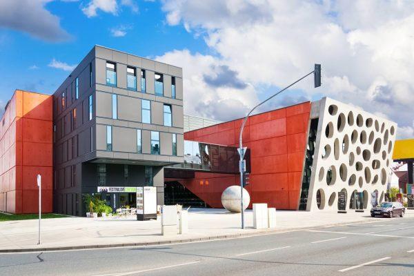 Modernist Architecture of the New Theatre in Pilsen (Plzeň), Czechia