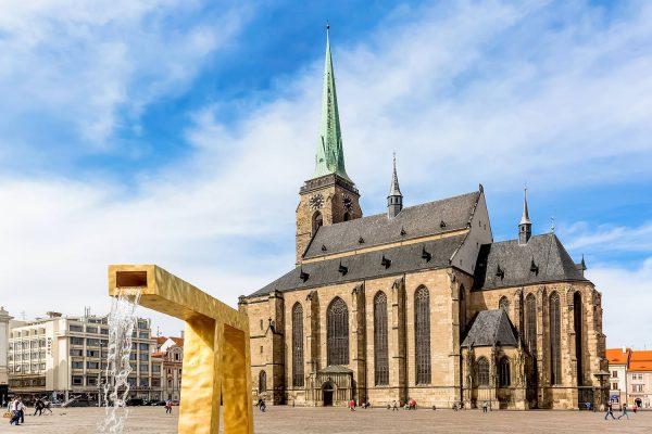 St. Bartholomew's Cathedral in Plzeň (Pilsen), Czech Republic (Czechia)
