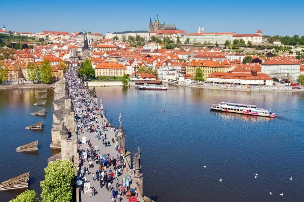 Charles Bridge, Prague, View from the Old Town Bridge Tower