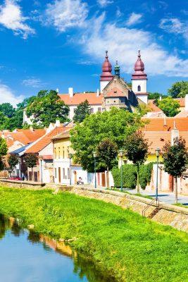 St. Procopius Basilica and the Jewish Quarter in Trebic, Moravia, Czechia
