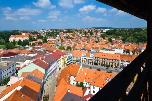 The View from the Town Tower of St. Martin's of Tours Church in Třebíč