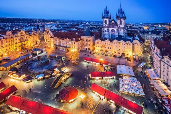 Easter Market in Old Town Square, Prague, Czechia