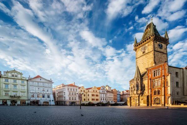 Old Town Square and the Old Town Hall in Prague, Czech Republic
