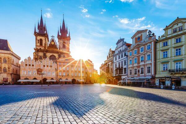 Old Town Square at Sunrise, Prague, Czechia