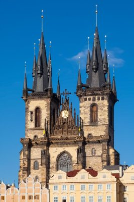 The Towers of the Týn Church, Prague, Czech Republic
