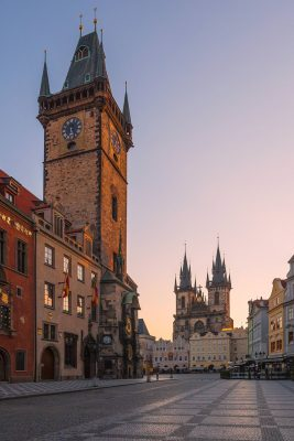 Old Town Square at Dawn, Prague, Czech Republic