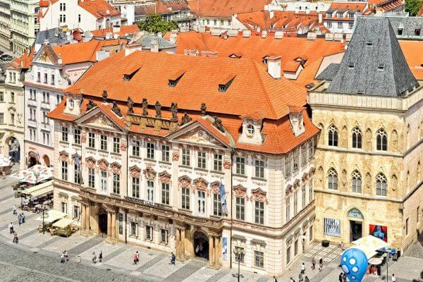 The Kinský Palace (National Gallery) and the Stone Bell House, Old Town Square, Prague, Czechia