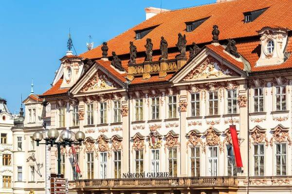 The Kinský Palace (National Gallery), Old Town Square, Prague, Czechia