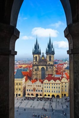 Old Town Square as Seen from the Old Town Hall, Prague, Czechia