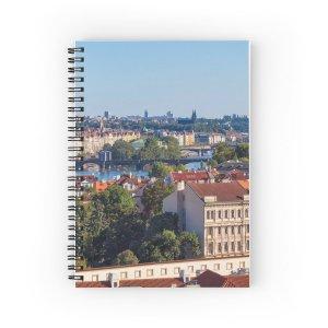 Prague 009 - The View from Opyš Hill - Spiral Notebooks
