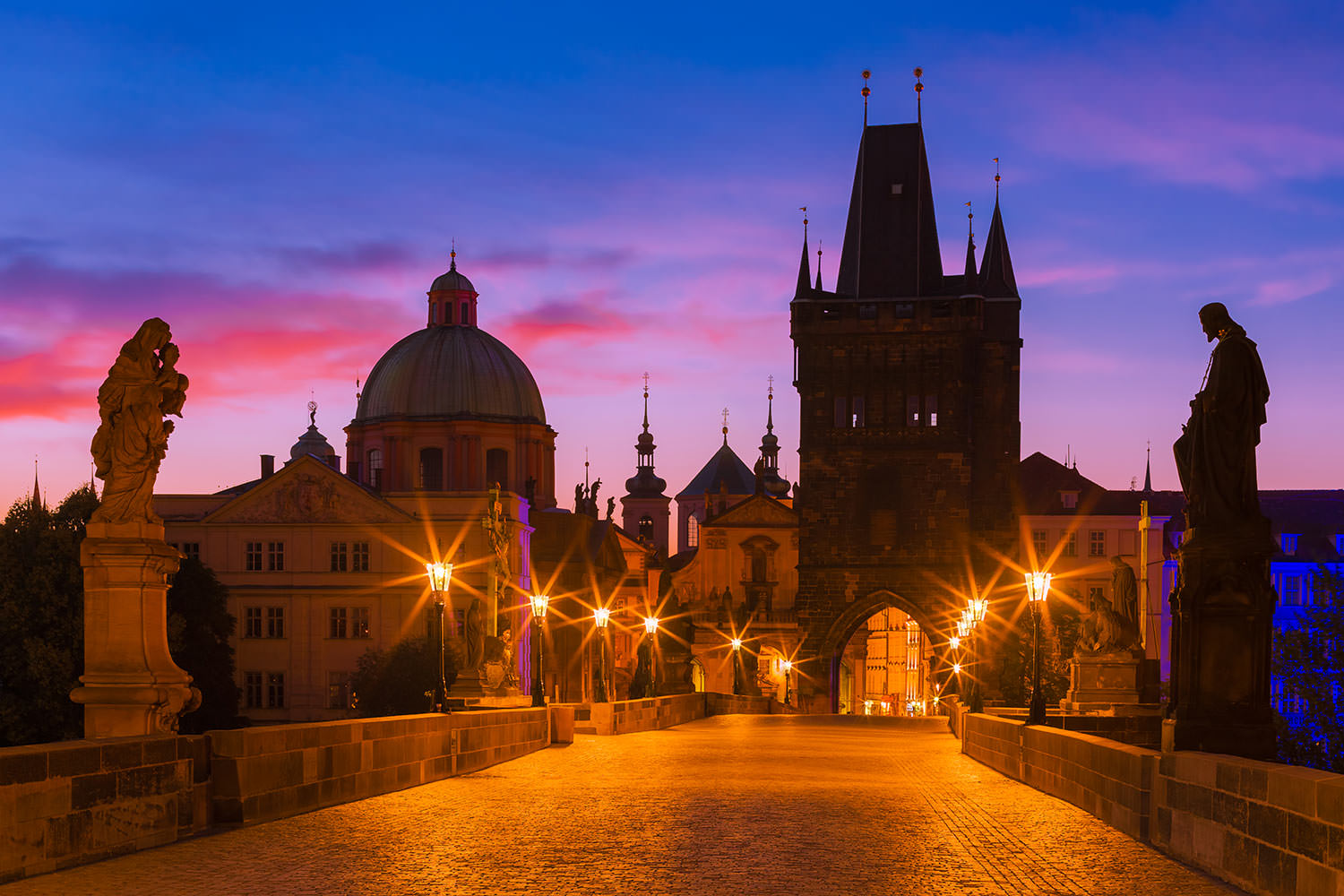 Charles Bridge at Dawn, Prague, Czechia