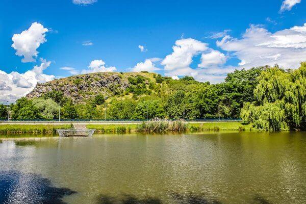 Lake Dzban in Divoka Sarka Nature Reserve, Prague