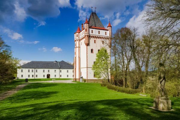 Hradec nad Moravicí Chateau, Czechia - White Chateau
