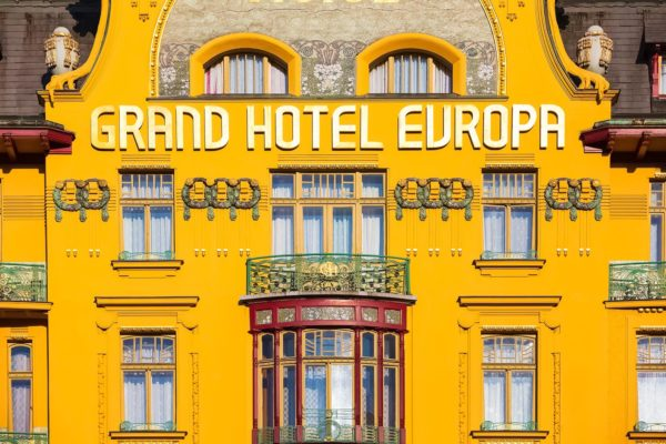 Grand Hotel Evropa, Wenceslas Square, Prague, Czechia