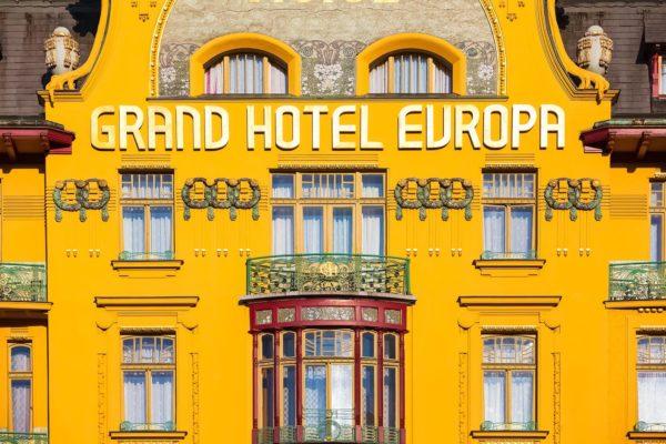 Grand Hotel Evropa, Wenceslas Square, Prague, Czechia