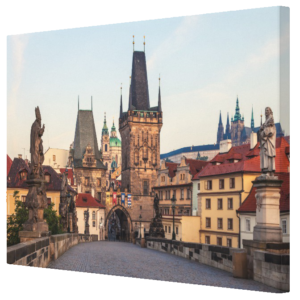 Canvas Print - Prague 006A - Charles Bridge Morning