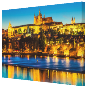 Canvas Prints - Prague 002A - City Skyline at Night