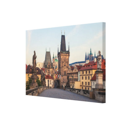 Canvas Print - Prague 006A - Charles Bridge Morning