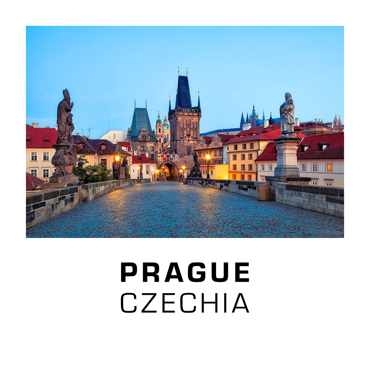 Prague 001C - Charles Bridge at Dawn, Czechia