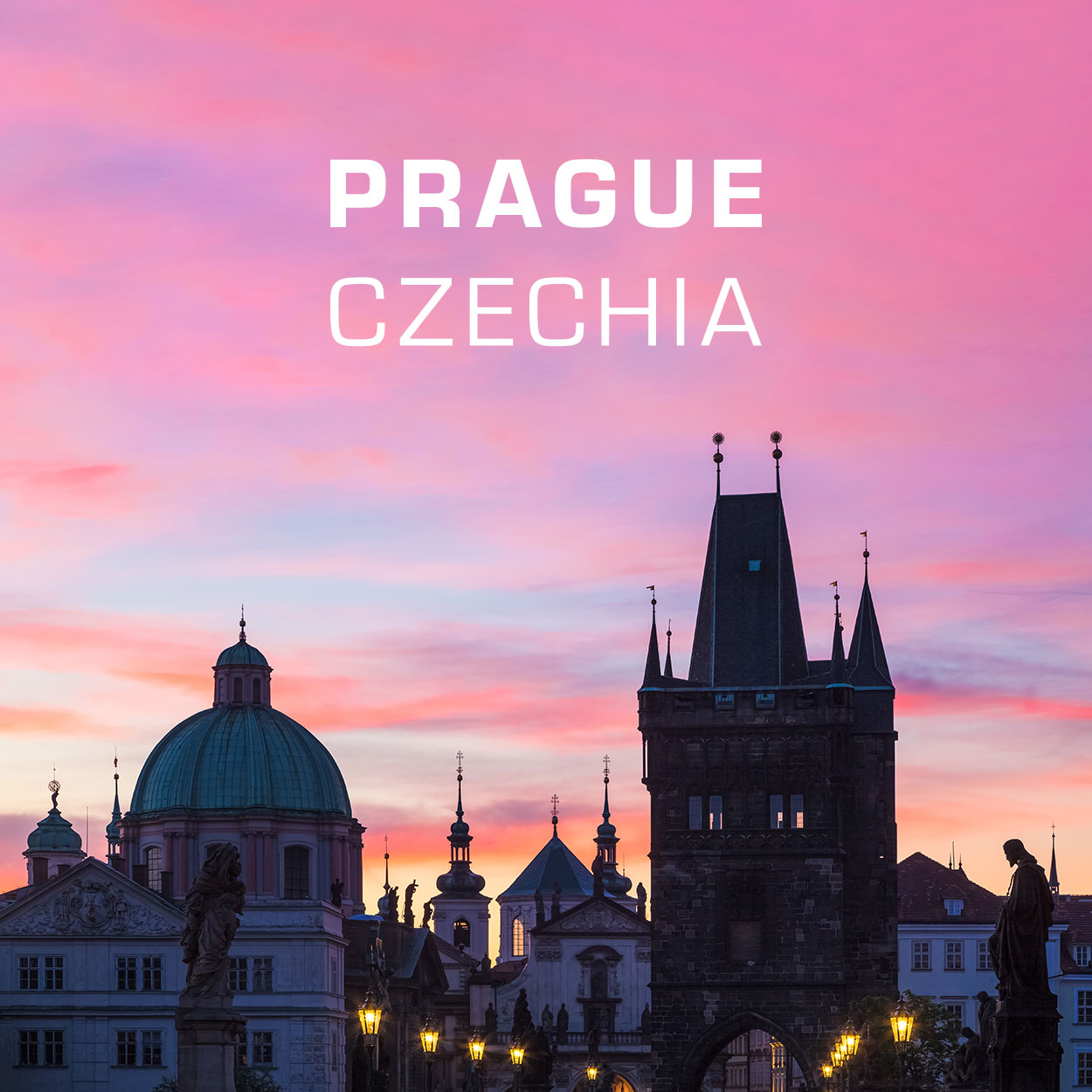 Fridge Magnets - Prague, Czechia - Sunrise on Charles Bridge