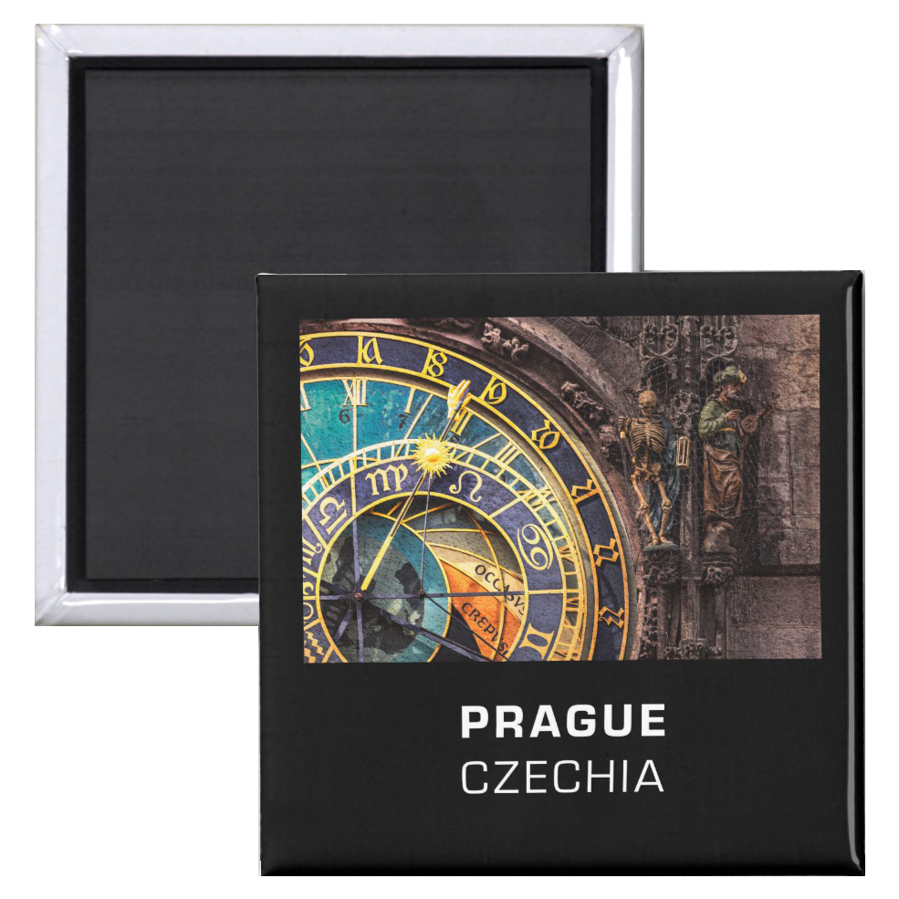 Fridge Magnets - Prague, Czechia - Detail of the Prague Astronomical Clock a.k.a. Orloj