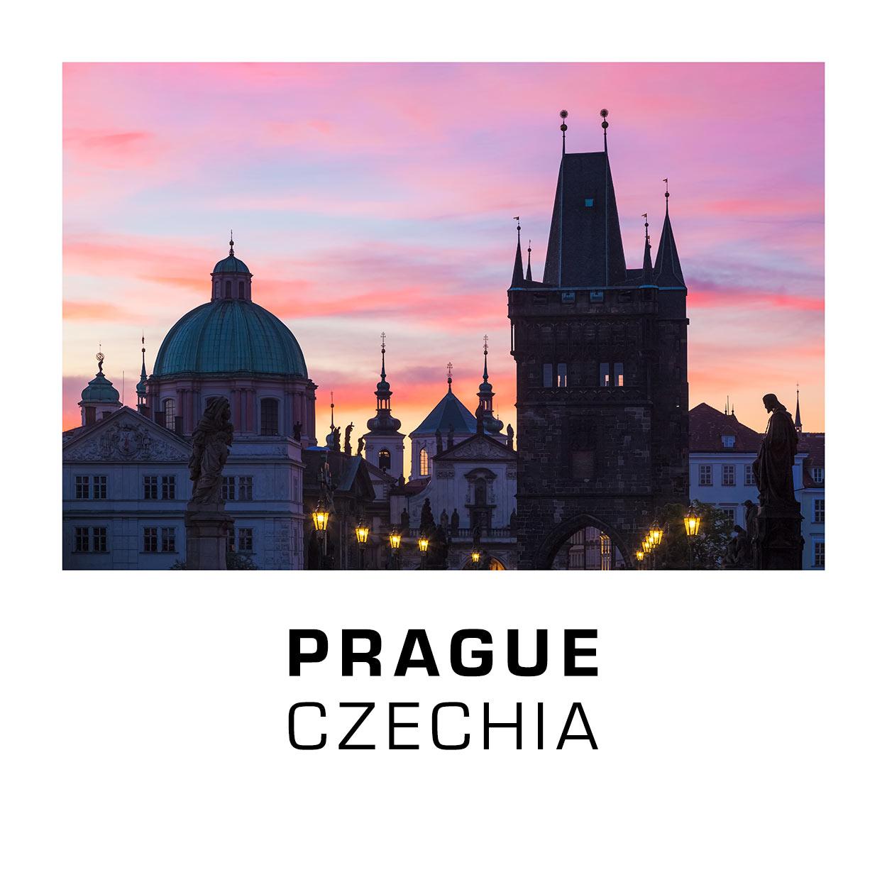 Fridge Magnets - Prague 012C - Sunrise on Charles Bridge