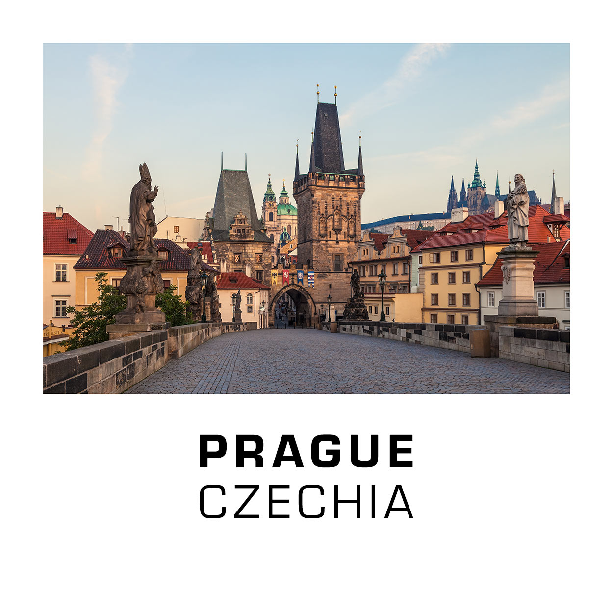 Prague, Czechia - Charles Bridge in the Early Morning Hours