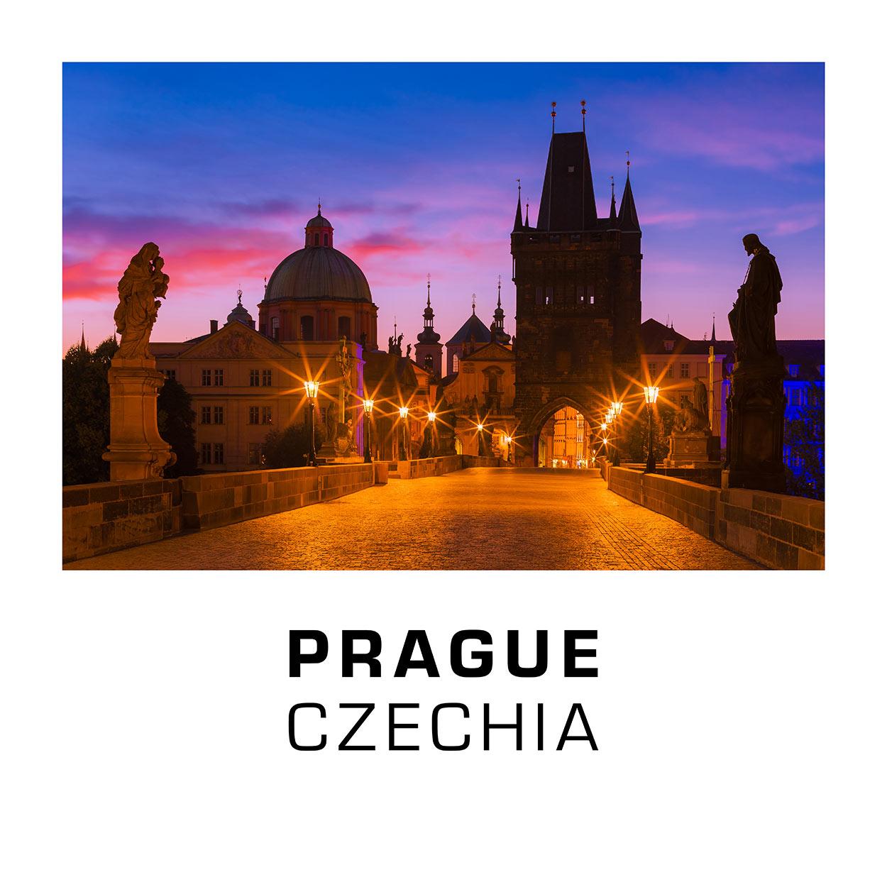 Prague, Czechia - Charles Bridge at Night