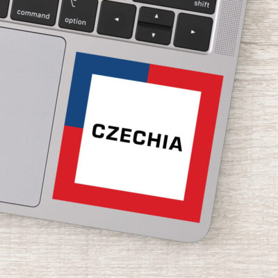 Stickers - Czechia 01A - Czech Flag Colors
