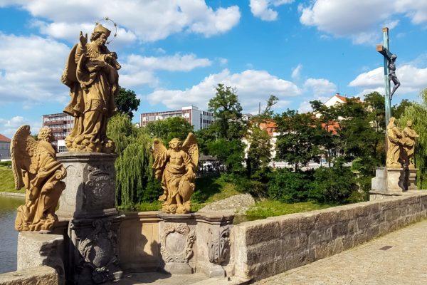 Statues on the Bridge in Písek
