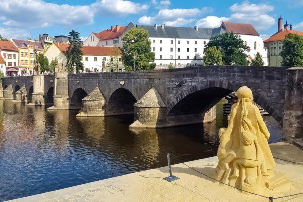 The Old Stone Bridge in Písek