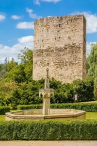 The Fountain in the Courtyard of Bítov Castle