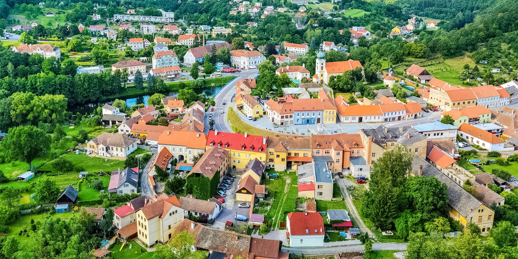 Aerial View of Vranov nad Dyjí, Czechia