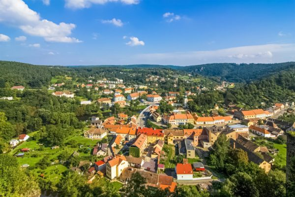 Panorama of Vranov nad Dyjí