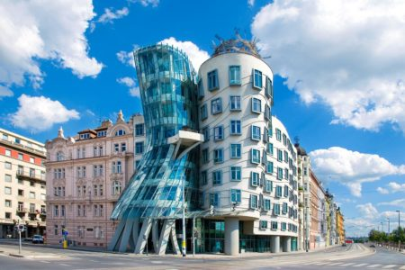 The Dancing House (a.k.a. Ginger and Fred) in Prague, Czechia