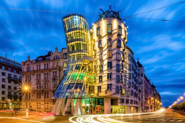 The Dancing House In The Evening