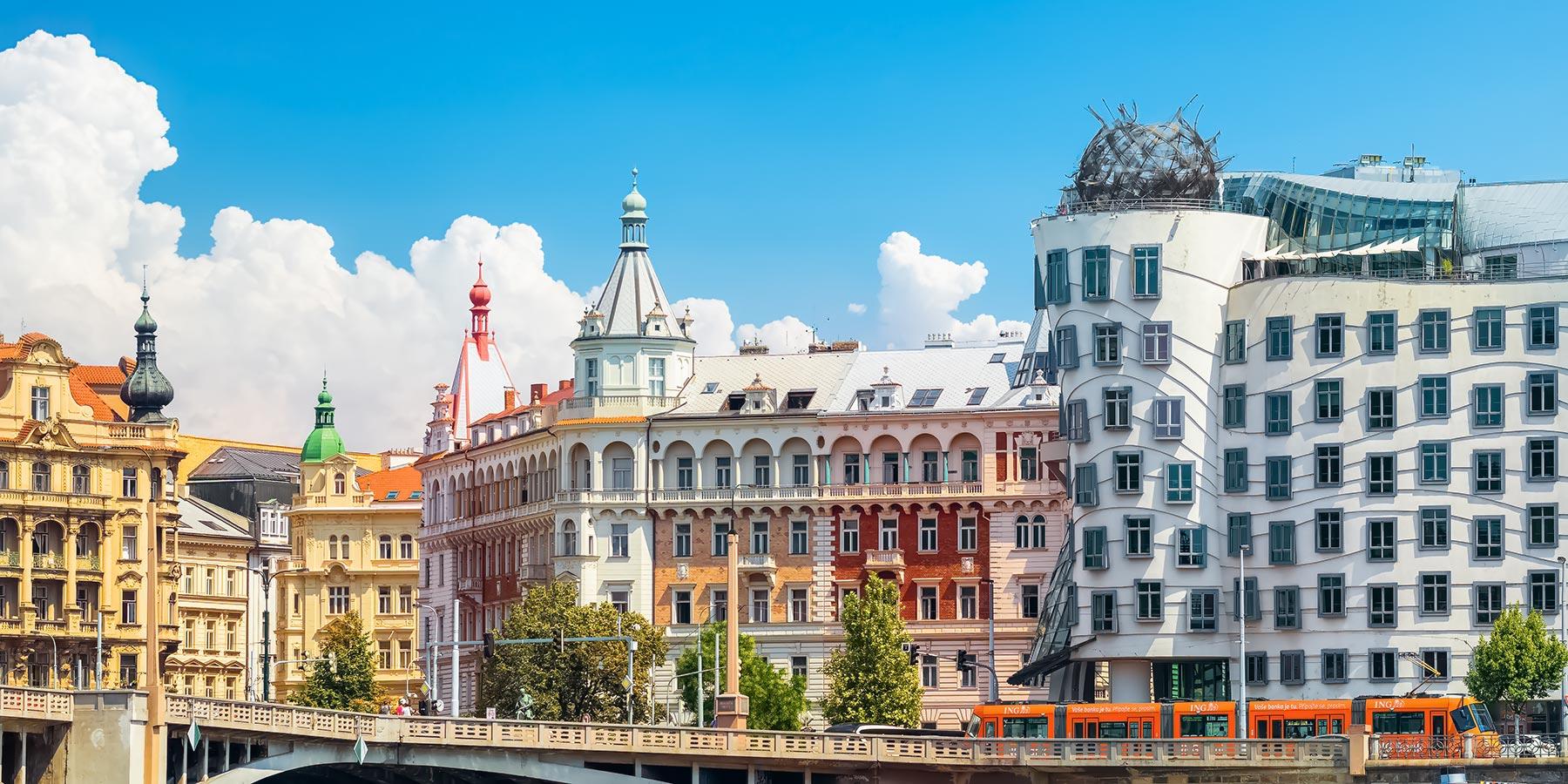 The Dancing House and Its Surroundings, Prague, Czechia