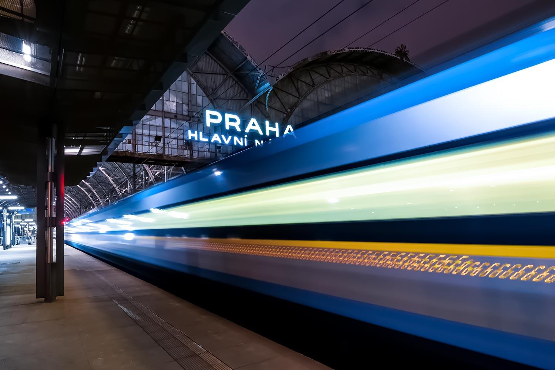 Praha hlavní nádraží - Main Train Station in Prague, Czechia