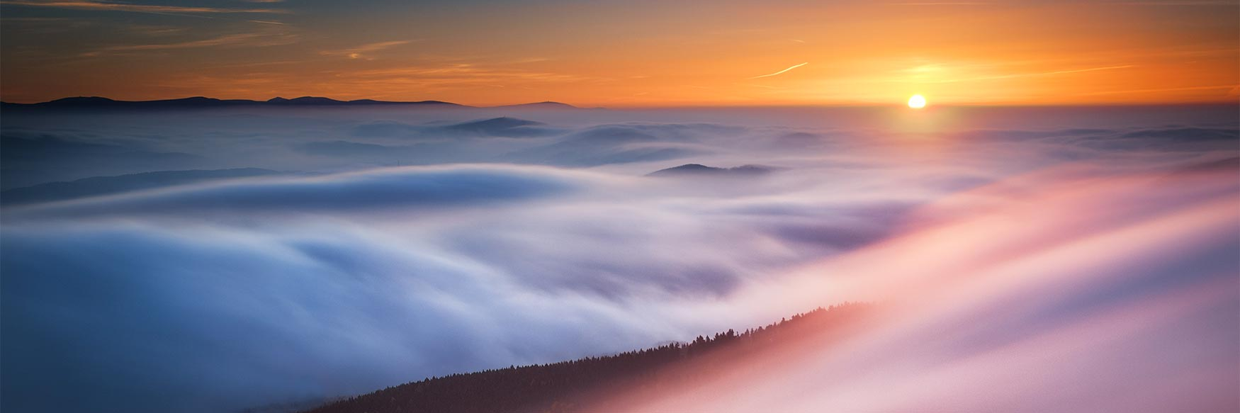 Sunrise View from Ještěd, Liberec Region, Czechia