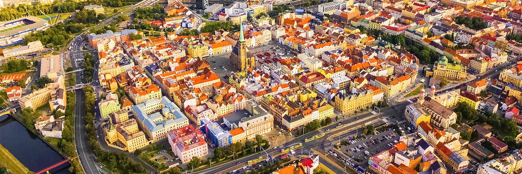 Aerial View of Pilsen (Plzeň)