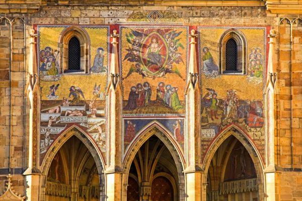 Facade of St. Vitus Cathedral, Prague, Czechia