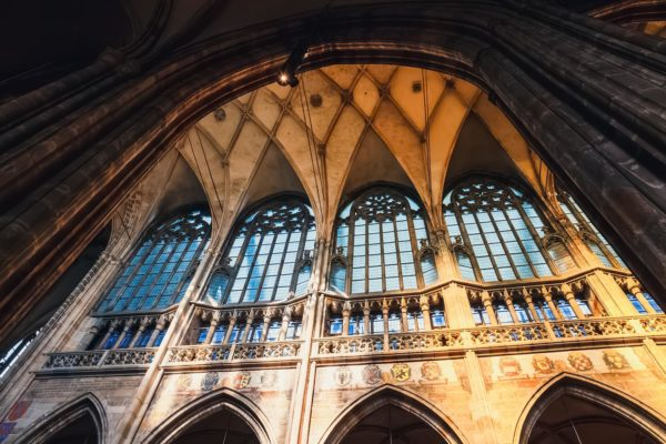 The Interior of St Vitus Cathedral in Prague, Czechia