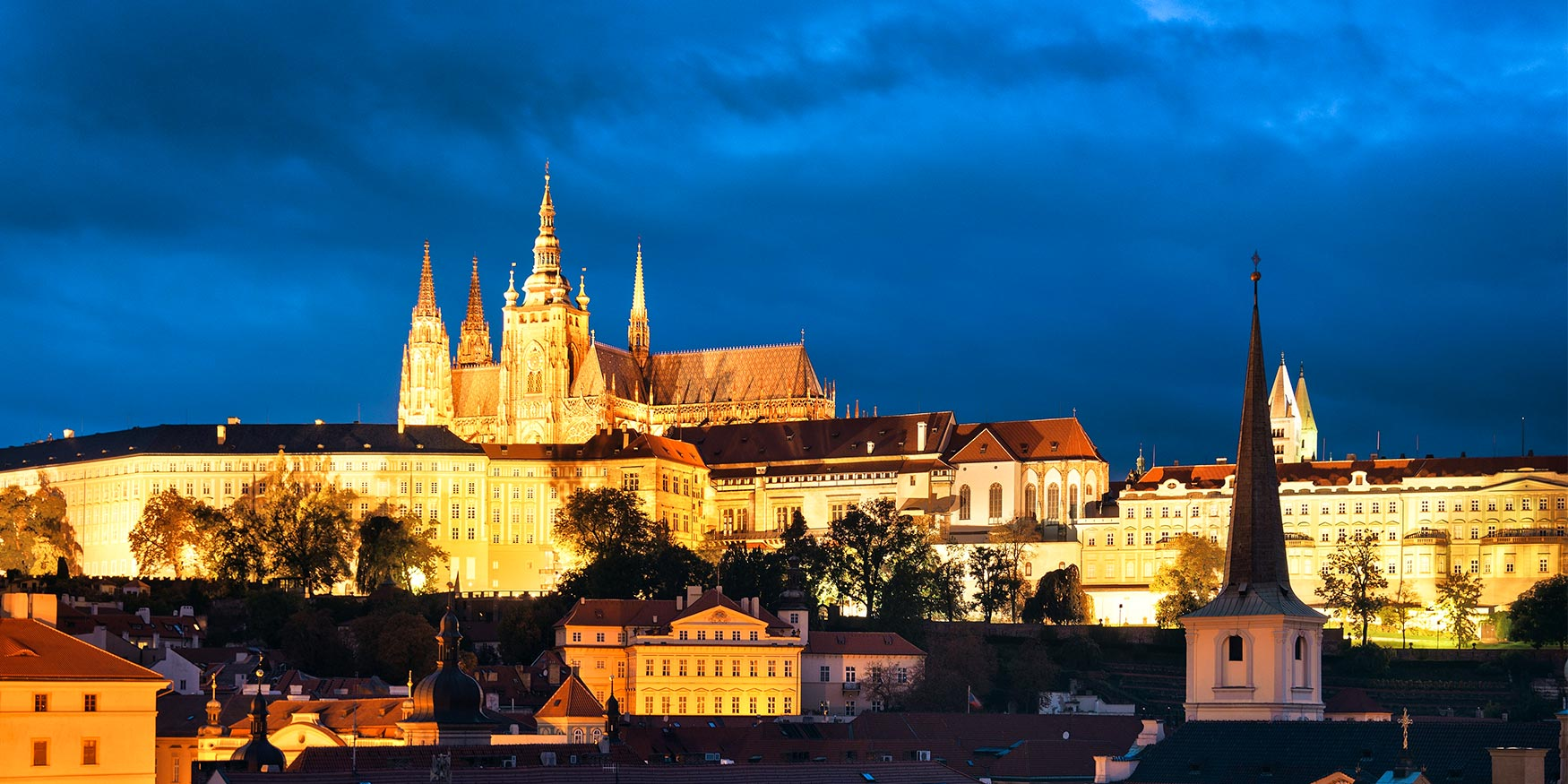 St Vitus Cathedral and Prague Skyline