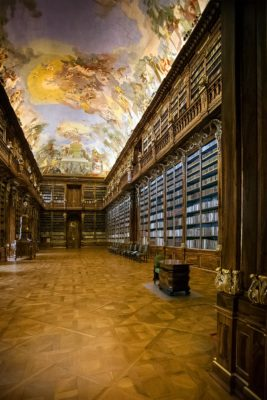 The Library of Strahov Monastery in Prague