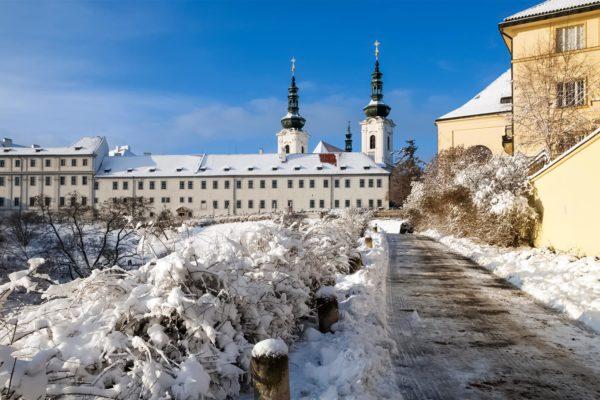 Strahov Monastery in Winter